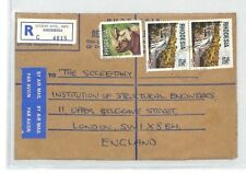 BL185 1979 RHODESIA *Union Avenue Salisbury* Registered Commercial Cover RHINO