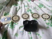 1950 View-master + 4 WESTERN Reel #955 Hopalong Cassidy ROY ROGERS, AUTRY CISCO