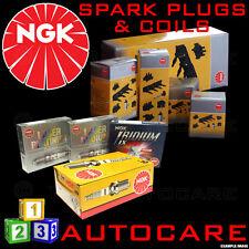 NGK Iridium Spark Plugs & Ignition Coil Set ILFR6B (6481) x4 & U2055 (48254) x1