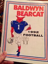 1992 Baldwyn Bearcat Football Media Program, Baldwyn Mississippi