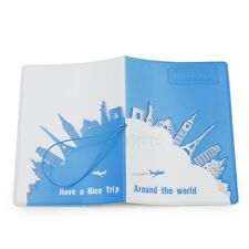 Travel Around The World Visa Identity Card 3D Passport Holder Protect Cover CASE