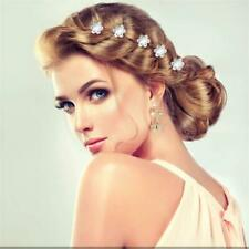 20Pcs Sparkly Silver Diamante Pearl Hair Pins Bridal For Wedding Party Prom Gift