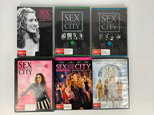 SEX AND CITY Seasons 1,3,5,6 + The Movie 1 & 2 DVD R4 FREE TRACKED POST