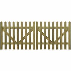 Cancello per Steccato Giardino 2 pz in Legno Impregnato varie dimensioni