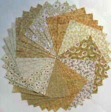 "40 - 5""  Tan Quilt Fabric Squares 100% Cotton  632"