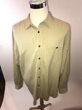 100% Silk Tommy Bahama Tan XL Button Up Short Sleeve T711