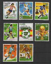 football  PARAGUAY  8 timbres oblitérés / T1705