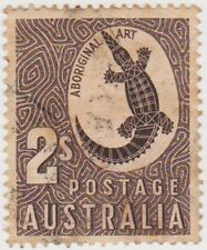 (W588) 1948 AU 2/- brown aboriginal art (P)
