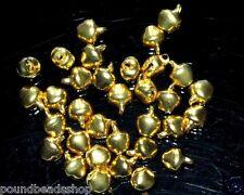 100 pcs iron charm bells, gold colour, 6 mm*