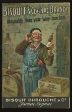 BISQUIT'S Cognac Brandy Advert early artist drawn PPC