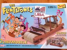 "Lindberg 1:25 The Flintstones ""Flintmobile"" Car Model Kit"