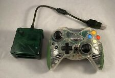 Intec Original XBOX Clear Wireless Controller with Green Receiver Tested (Read)