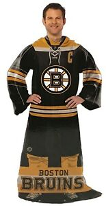 NHL Comfy Throw, The Blanket With Sleeves, Boston Bruins
