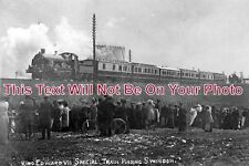 WI 282 - King Edward VII Special Train, Swindon, Wiltshire 1909 - 6x4 Photo