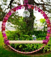 Hummingbird Swing, Bird Swing, Pink, Hummingbird Perch, Nectar Feeder Accessory
