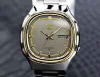 Seiko 5 Automatic 1970s Gold Plated Stainless Mens Watch Made in Japan  J8071...