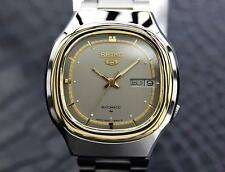 Seiko 5 Automatic 1970s Gold Plated Stainless Mens Watch Made in Japan J8071