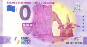 76 ETRETAT Falaise 4, 2021, Billet Euro Souvenir