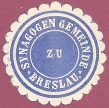 New listing Old Judaica paper letter seal - Breslau - Synagogen Gemeinde - more on ebay.pl