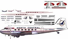 North Central Douglas DC-3 C-47 airliner decals for Minicraft 1/144 kits