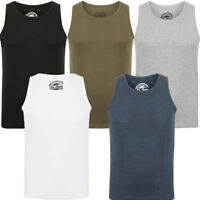 New Mens South Shore Branded Mace Cotton Ribbed Lightweight Vest Top Size M-XXL