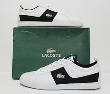 Lacoste Observe Lace Off White Black Leather Men's Size 10 (UK 9) (EUR 43)