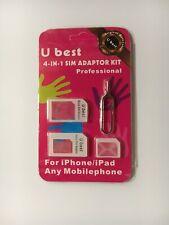 U Best Sim Card Adapter Nano Micro - Standard 4 In 1 Converter Kit