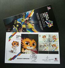 Malaysia 29th SEA Games 9th Para Asean 2017 Tiger (special FDC) *signed *Rare