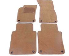 Audi A8L 4PC Custom Fit Carpet Floor Mats Beige w/ Grommets Fits 2004-2010 NEW