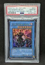 PSA 10 Gem Mint The Masked Beast 1st edition LON Ultra Rare 2003 Yu-Gi-Oh! Card