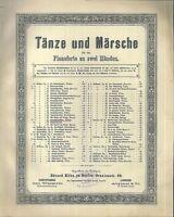 C. BOHM, Neujahrsgrüße-WALZER Op. 47,  übergroße, alte Noten