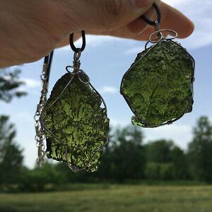 1pc Rare Green vitriol meteorite pendant Czech meteorite pendant crystal