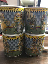 Lot of 4 Debbie Mumm coffee Cups / mugs - Sakura Garden Vignette 1999 - 4383