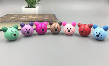 10pcs Mixed color Wooden Round Bear Loose Beads CRAFT BEADS Beaded 28mm