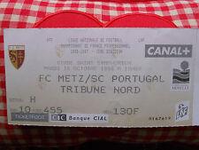 Billet Football FC METZ - SPORTING DU PORTUGAL 15.10.1996