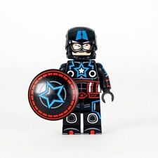 ⎡OUTSIDE BRICK⎦Custom Tron Captain America Lego Minifigure