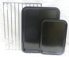 3 Piece AGA Safe British Made Heavy Gauge Enameled Steel Baking /Roasting Set. .