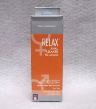 Doc Johnson Relax Anal Relaxer 2oz Unisex Lubricant Hot Sexy Play Lube w/Box