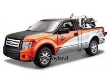 MAISTO voiture miniature FORD f-150 stx pick-up 1:27 + Harley FLSTF Fat Boy 1:24 - NEUF