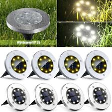 More details for 8pcs led solar power ground lights floor decking outdoor garden lawn path lamp
