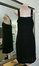 Cue Stretch Bodycon Dress.Sz8.Sequins and lace trim.Crossover back. Fully lined.