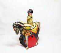 Vintage Wells Clockworker Drummer Boy On Horse - Vintage 1950s Model