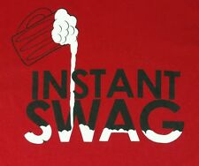 "T-Shirt ""Instant Swag"" Beer Swagger Cool Drinking Shirt 158C1"