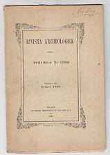 W562-RIVISTA ARCHEOLOGICA DELLA PROVINCIA DI COMO 1884