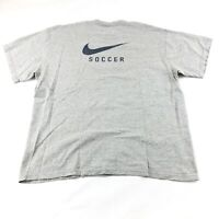 Vintage Y2K Nike Soccer T Shirt Men's XL Big Swoosh Short Sleeve Graphic Tee