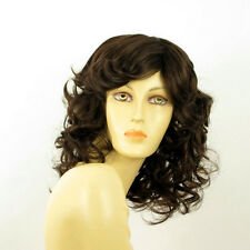 mid length wig for women curly chocolate copper wick ref FLO 6 PERUK