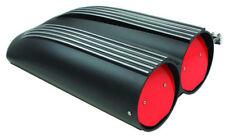 Black Aluminum Finned Top Shotgun Intake Air Scoop Single & Dual Carbs