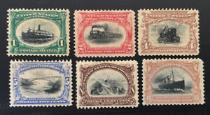 1901 US Stamps #294-299 Pan-American Exposition Issue Mint Set CV:$382