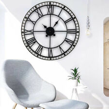 88CM LARGE SKELETON WALL MOUNTED VINTAGE STYLE ROMAN CLOCK IRON HOME DECOR GIFT