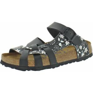 Papillio by Birkenstock Girls Pisa Black Flat Footbed Sandals Shoes 36 BHFO 0132